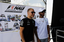 Valtteri Bottas, Mercedes AMG F1, Lewis Hamilton, Mercedes AMG F1, on the F1 stage