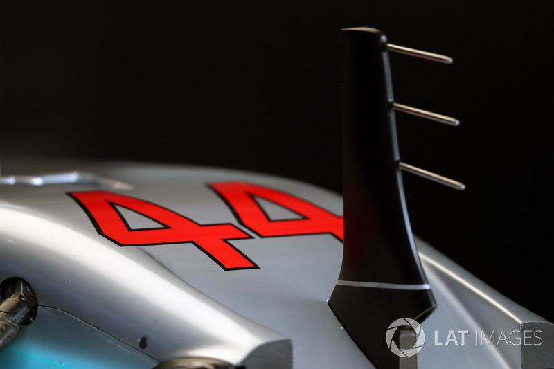 Mercedes-Benz F1 W08 nose and sensor detail