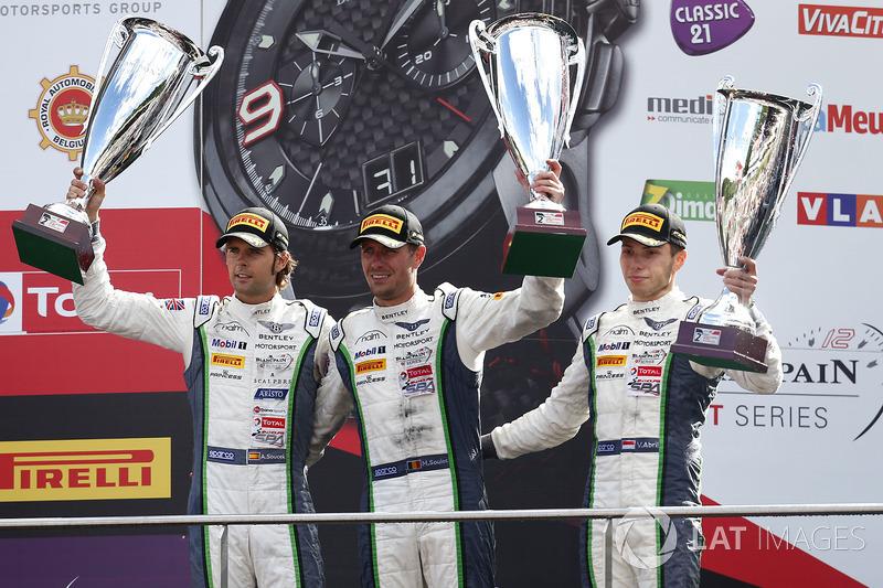 Podium: second place #8 Bentley Team M-Sport Bentley Continental GT3: Andy Soucek, Maxime Soulet, Vincent Abril