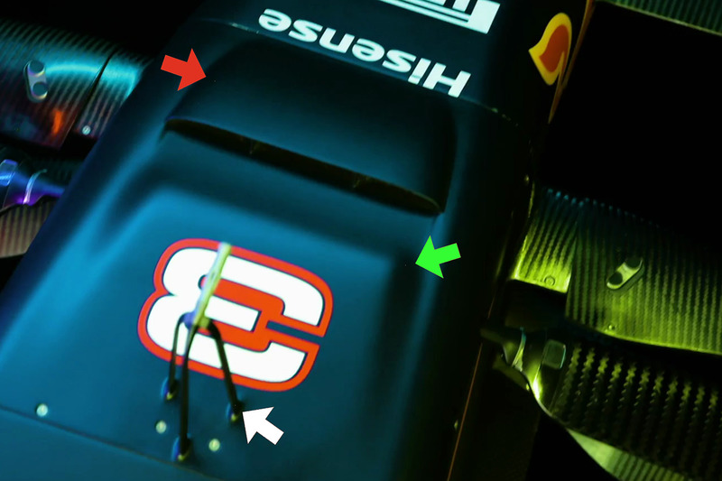 Red Bull Racing RB13 s-duct detail
