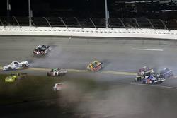 Crash: Stewart Friesen, Chevrolet; John Hunter Nemechek, SWM-NEMCO Motorsports Chevrolet; Ross Chastain, Chevrolet; Ryan Truex, Toyota