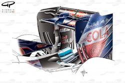 Toro Rosso STR11 low downforce rear wing