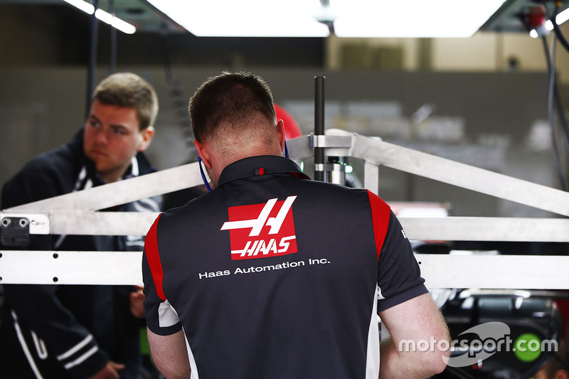 Haas F1 Team team members at work