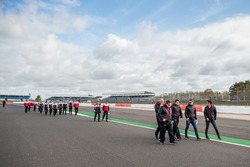 DC Racing Oreca team members during track walk