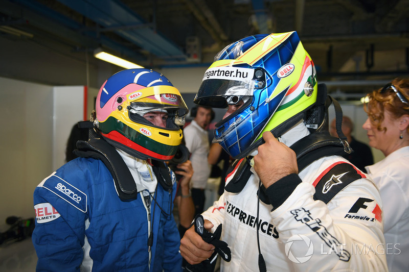 Jacques Villeneuve, F1 Experiences 2-Seater Driver and Zsolt Baumgartner, F1 Experiences 2-Seater driver