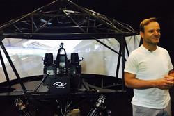 Rubens Barrichello with the AOTech simulator