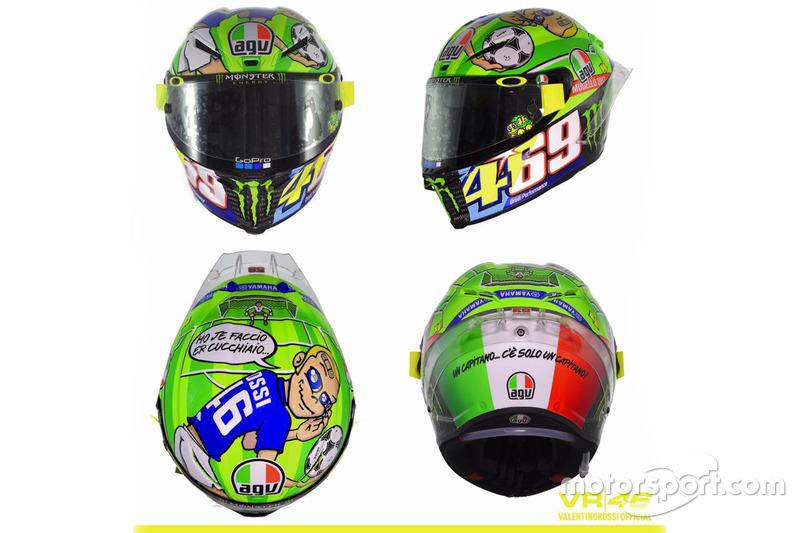 Design Helm helmet design of valentino yamaha factory racing at