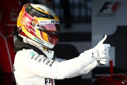 El segundo clasificado Lewis Hamilton, Mercedes AMG F1
