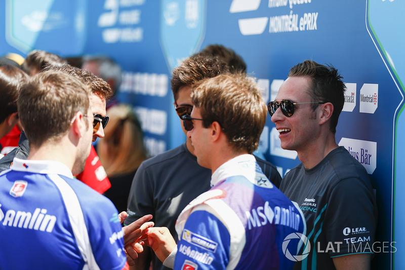Antonio Felix da Costa, Amlin Andretti Formula E Team, y Adam Carroll, Jaguar Racing
