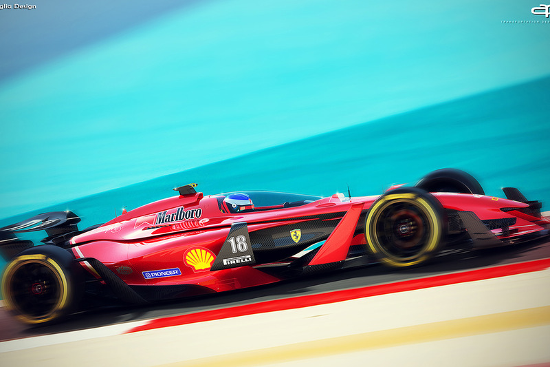Ferrari de 2025 fantasy F1 concept