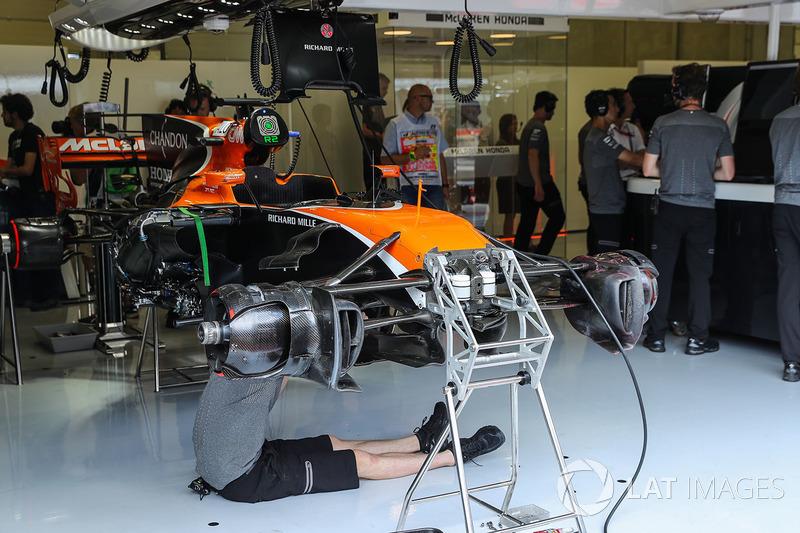 Detalle del chasis del MCL32