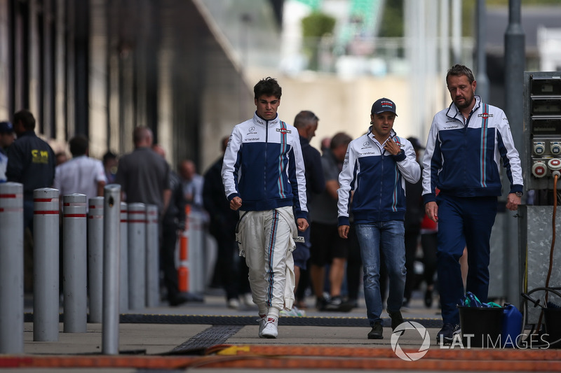 Lance Stroll, Williams y Felipe Massa, Williams