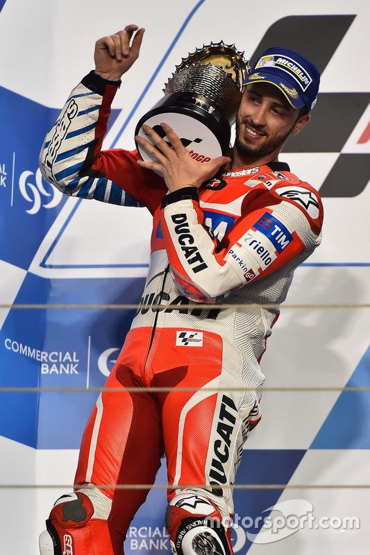 Podium : le deuxième Andrea Dovizioso, Ducati Team, Ducati