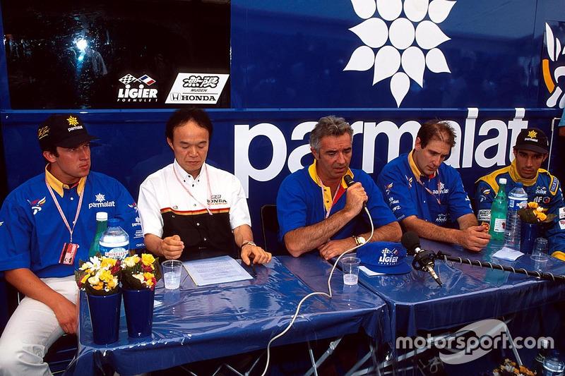 Olivier Panis, Flavio Briatore, Pedro Diniz, Ligier