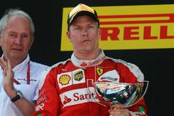 Kimi Raikkonen, Ferrari viert tweede plaats op het podium