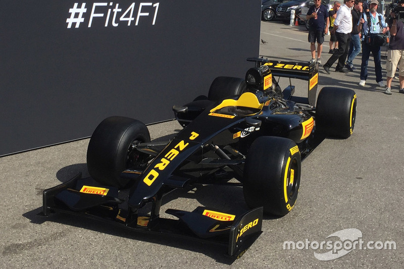 Pirelli Offers First Look At Wider F Tyres - F1 show car