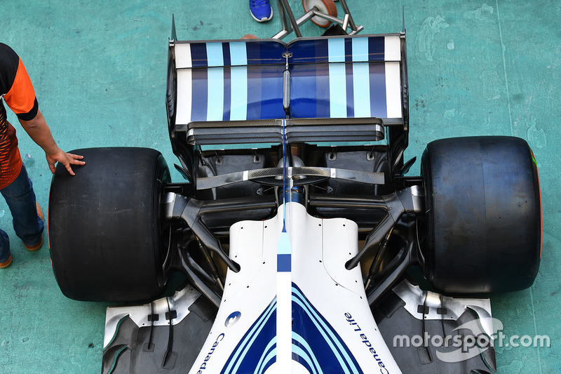 Задні підвіска та антикрило Williams FW40