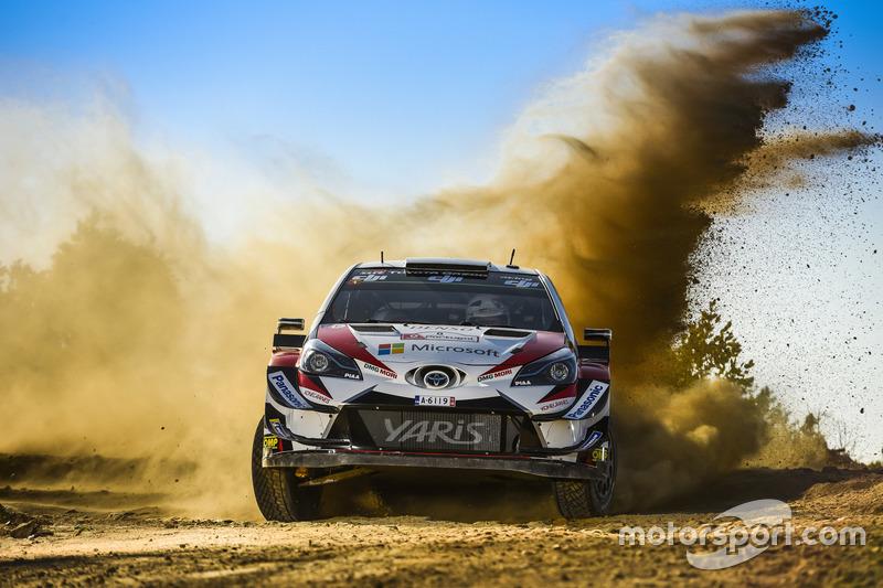 Отт Тянак и Мартин Ярвеоя, Toyota Yaris WRC, Toyota Gazoo Racing