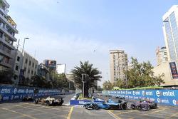 Андре Лоттерер, Techeetah, Себастьен Буэми, Renault e.Dams, и Сэм Бёрд, DS Virgin Racing