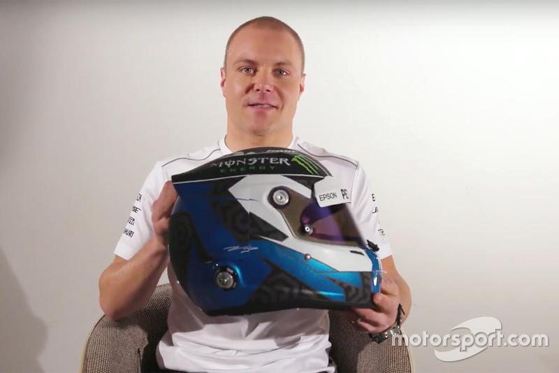 Valtteri Bottas, Mercedes AMG F1 présente son nouveau casque