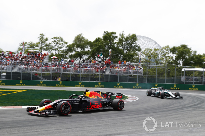 Ricciardo after passing Hamilton in the pits