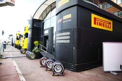 The Pirelli hospitality area