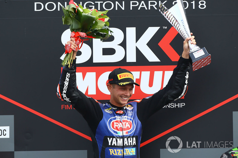 Podium: race winner Michael van der Mark, Pata Yamaha
