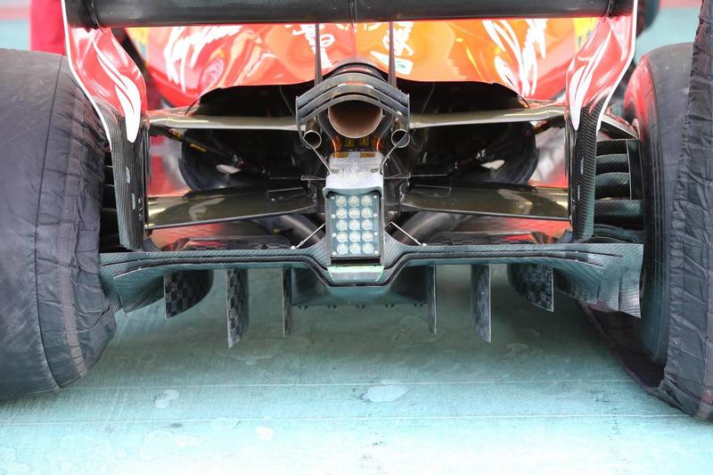 Ferrari SF70H diffuser AbuDhabi GP