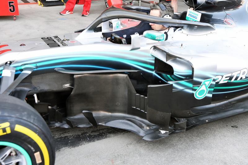 Simulation d'arrêt au stand chez Mercedes