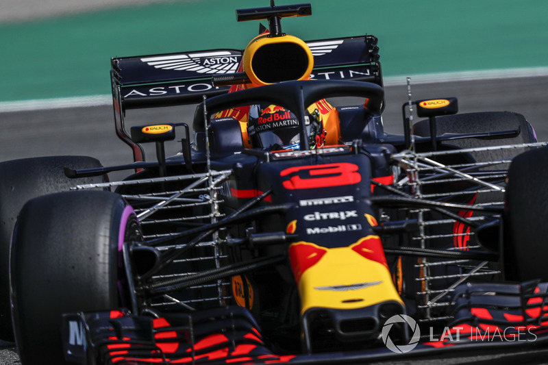 Daniel Ricciardo, Red Bull Racing RB14, con dei sensori aerodinamici