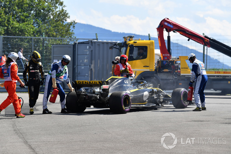 Nico Hulkenberg, Renault Sport F1 Team R.S. 18 abandonne