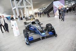 A Formula E car on display in Rome