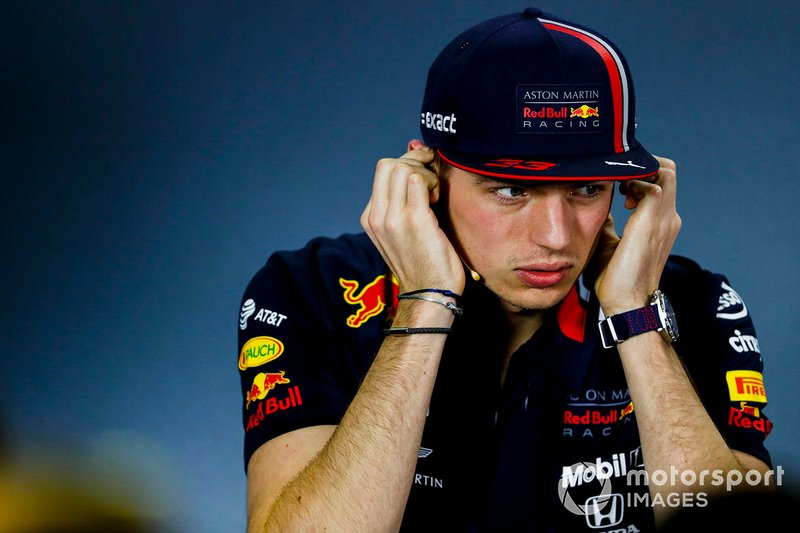 Max Verstappen, Red Bull Racing, durante la conferenza stampa