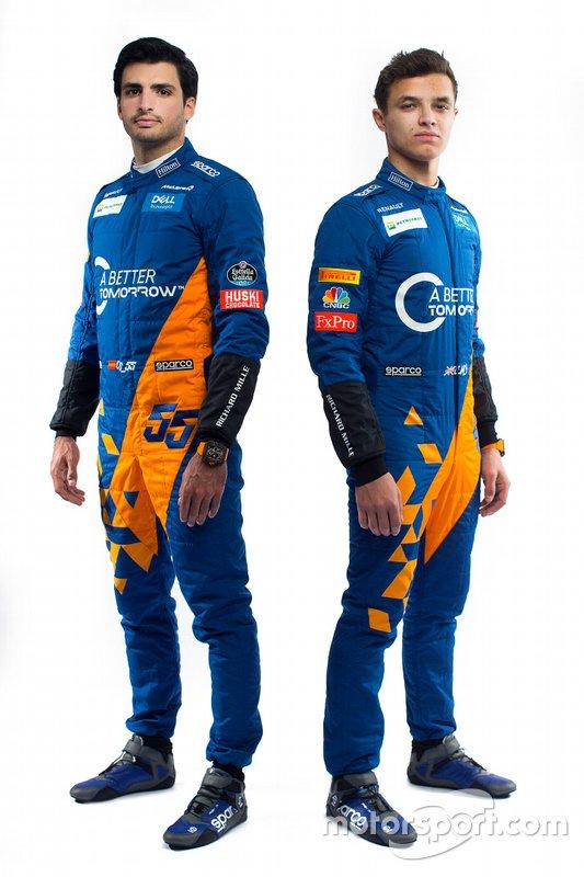 Lando Norris, McLaren, Carlos Sainz Jr., McLaren