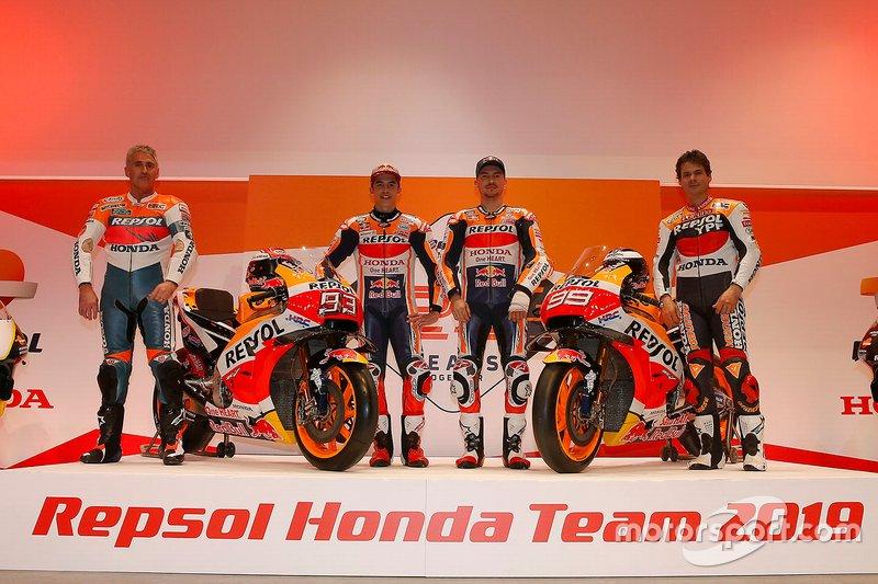 Mick Doohan, Alex Criville, Marc Márquez and Jorge Lorenzo, Repsol Honda Team