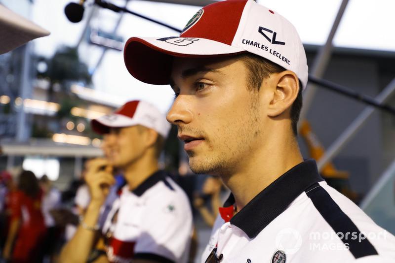 Charles Leclerc, Sauber, and Marcus Ericsson, Sauber