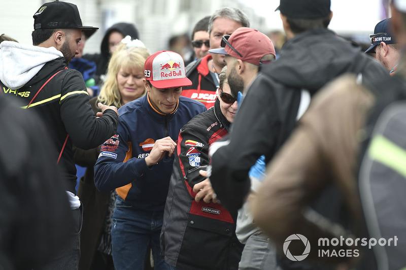 Marc Marquez, Repsol Honda Team, con i tifosi