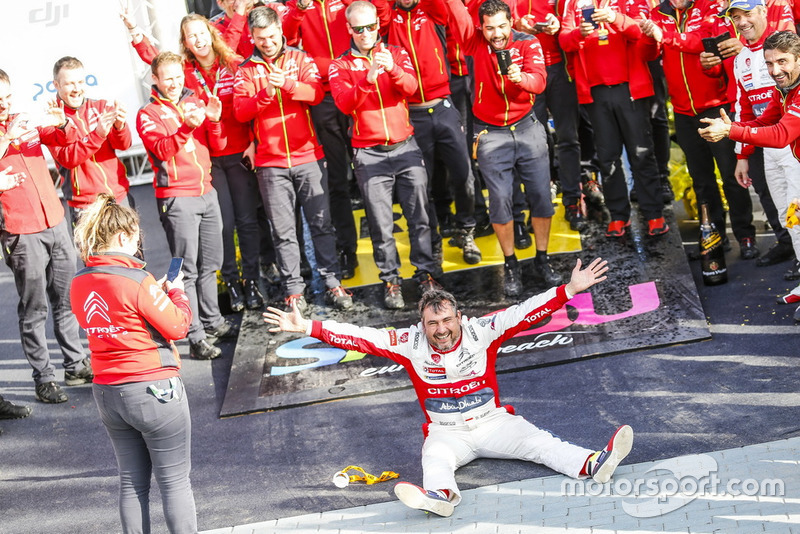 Il vincitore Daniel Elena, Citroën World Rally Team Citroën C3 WRC