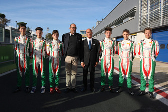 Angelo Sticchi Damiani e Marco Ferrari assieme ai piloti