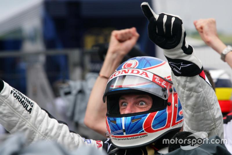 Le vainqueur Jenson Button, Honda