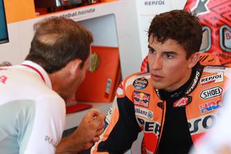 Marc Marquez, Repsol Honda Team, mit Alberto Puig