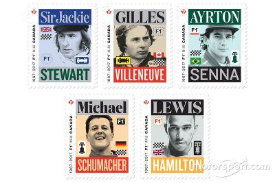 加拿大邮政发行F1邮票