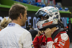 Sebastian Vettel and Jenson Button, talk