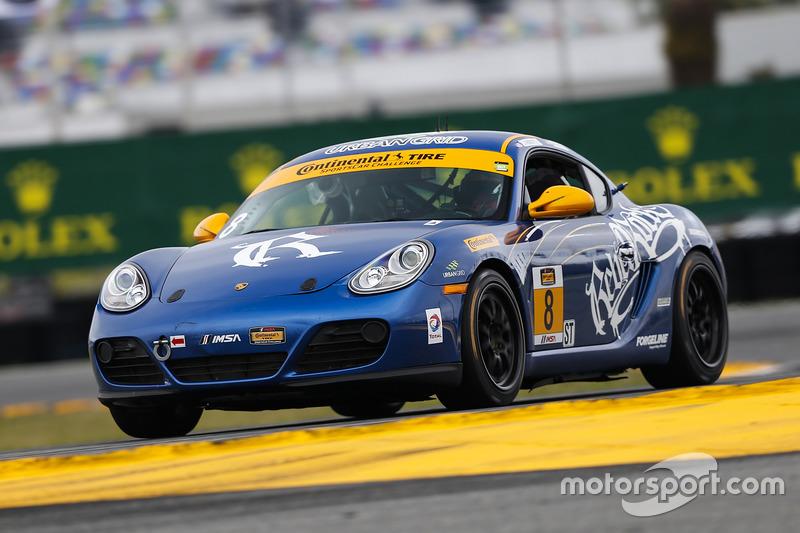 #8 Rebel Rock Racing Porsche Cayman: David Roberts, Dion von Moltke