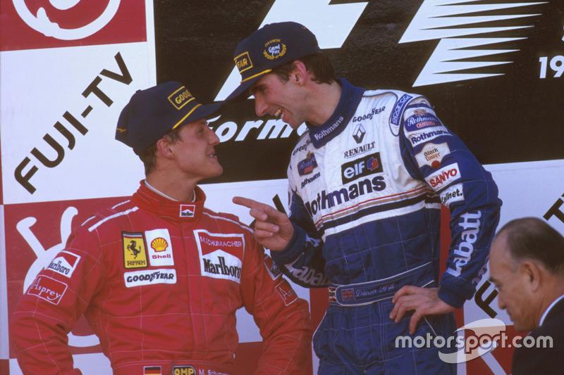 1996: 1. Damon Hill, 2. Michael Schumacher, 3. Mika Hakkinen