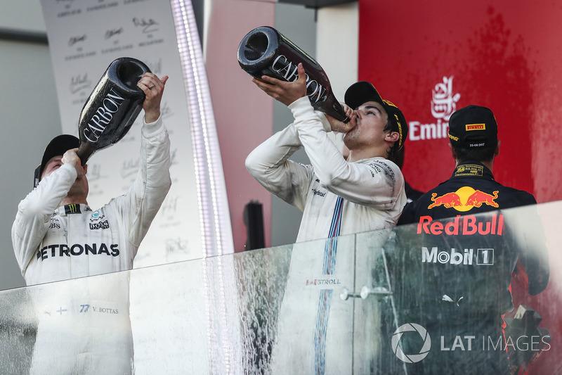 Valtteri Bottas, Mercedes AMG F1, Lance Stroll, Williams, Daniel Ricciardo, Red Bull Racing