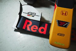 Front wing detail of Pierre Gasly, Team Mugen car