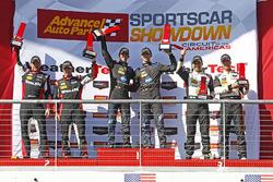Podium: race winners Jordan Taylor, Ricky Taylor, Wayne Taylor Racing, second place Eric Curran, Dane Cameron, Action Express Racing, third place Joao Barbosa, Christian Fittipaldi, Action Express Racing