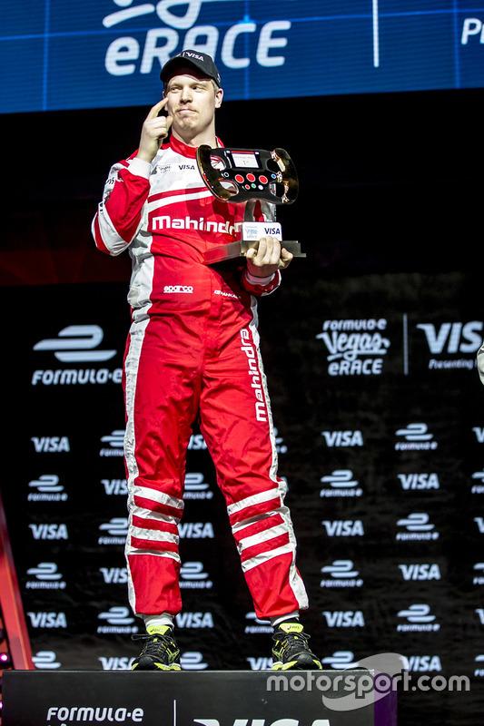 Le vainqueur Olli Pahkala, Mahindra Racing