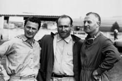 Hans Herrmann, Juan Manuel Fangio and Karl Kling, Mercedes